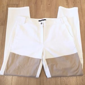TIBI Contrast Panel Cropped Pants